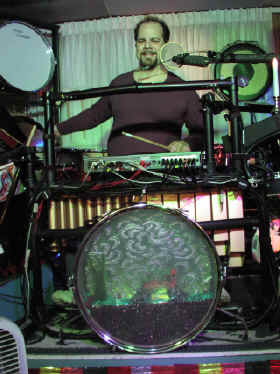 The electronic midi drum set, and drumming music, from past to present, with modern independent musician, soloist, video producer: Vince Schaefer.  Shown playing on a DrumKAT midi controller and a 5 octave, 8 zone, 4 layer master controller keyboard!